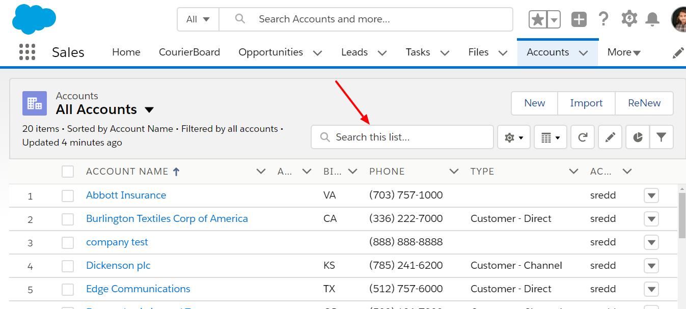Salesforce New Search Bar