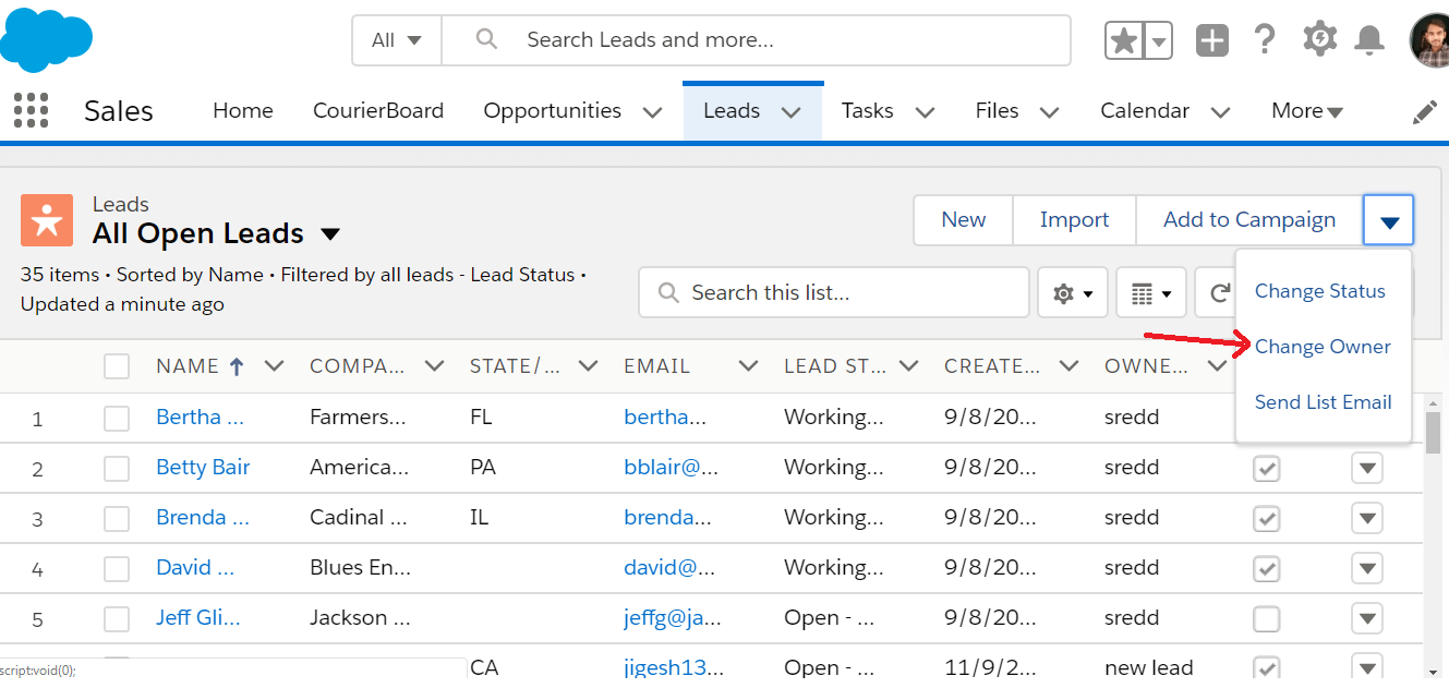 Salesforce Change Owner Feature