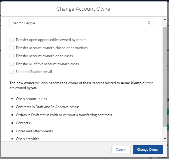 Transfer Account Ownership