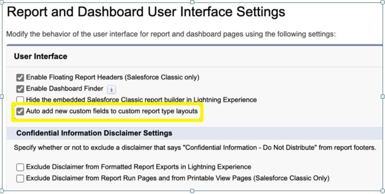 Salesforce Custom Report Types