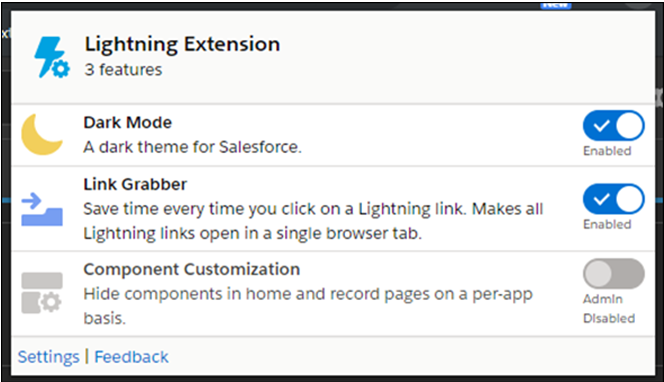 Lightning Experience Features