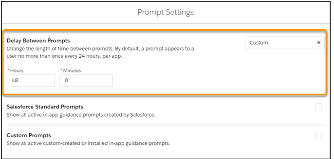 Prompts Appear to Users
